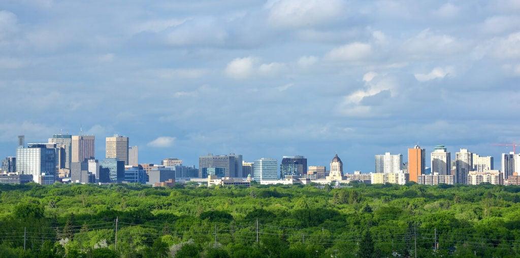 Frontier Manitoba Courier - Winnipeg Skyline